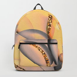 Glitter Yellow And Lilac Birthday Balloons Backpack