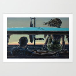 There We Were, All Over the News Art Print