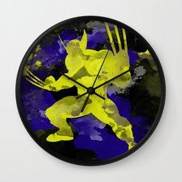 Wolver paint splash Wall Clock