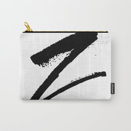 Letter Z Ink Monogram Carry-All Pouch