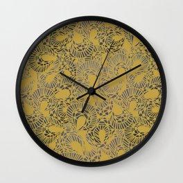 Pretty Yellow Lace Design Wall Clock