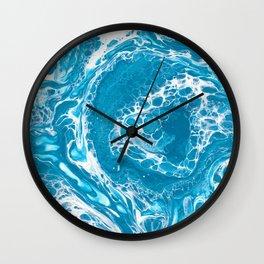 Frozen Currents Wall Clock