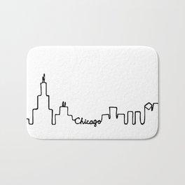 Chicago Skyline Abstract Sketch Bath Mat