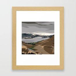 Cass Bay, New Zealand Framed Art Print