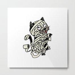 Mummy Cat Metal Print