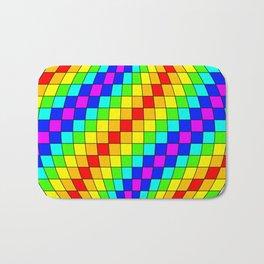 colorful fractal sphere Bath Mat