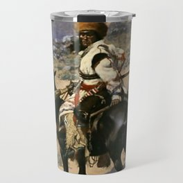 "Frederic Remington Western Art ""An Indian Trapper"" Travel Mug"