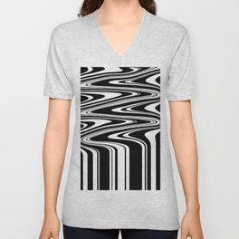 Stripes, distorted 6 Unisex V-Neck