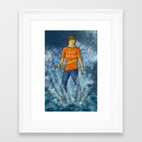 percy jackson Framed Art Prints featuring Percy Jackson by Ghost Filament