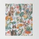 Cat and Floral Pattern III by burcukorkmazyurek