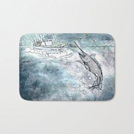 Fishing swordfish Bath Mat