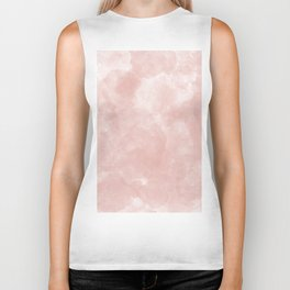 Blush pink coral white artistic modern abstract watercolor Biker Tank