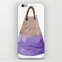 tote bag iPhone & iPod Skins featuring Tote 2 by ©valourine
