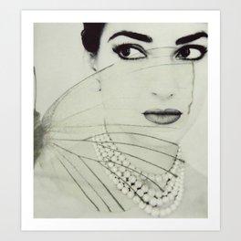 Madam Butterfly - Maria Callas Art Print