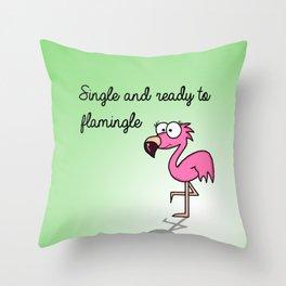 Flamingle  Throw Pillow