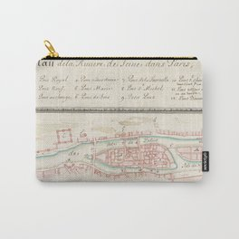 Vintage Seine River of Paris France Map (1760) Carry-All Pouch