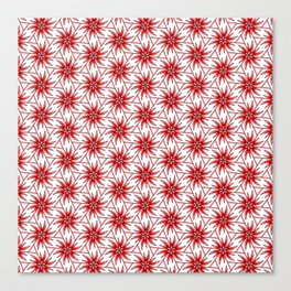 Red Pink and White Abstract Floral Triangular and Radial Design Spirit Organic Canvas Print