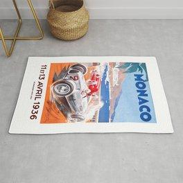 1936 Monaco Grand Prix Race Poster  Rug