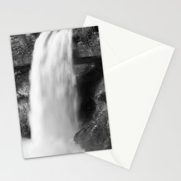 Waterfall in Black and White Stationery Cards