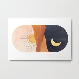 Abstract day and night Metal Print