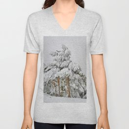 """""""Ghost forest"""". Square.  After the snowstorm Unisex V-Neck"""