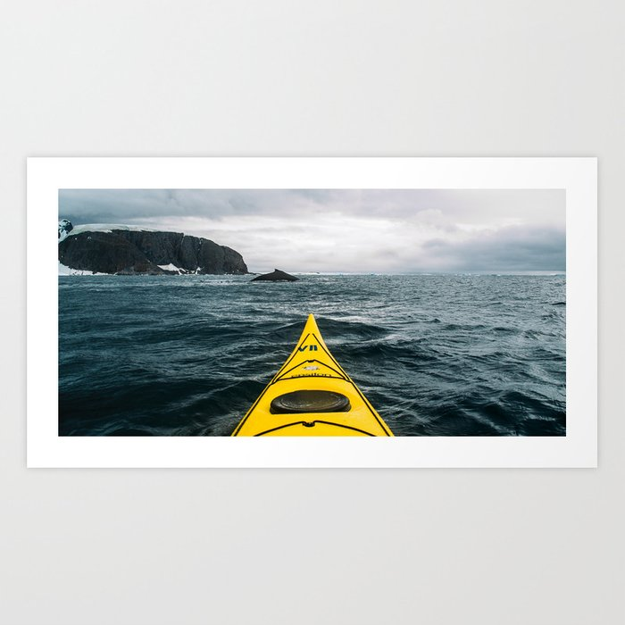 Stormy Antarctic Waters Art Print