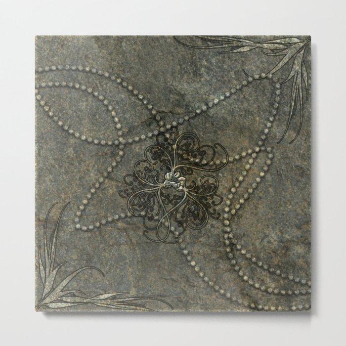 Wonderful floral design Metal Print