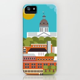 Columbia, South Carolina - Skyline Illustration by Loose Petals iPhone Case