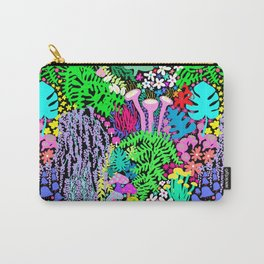 Jardin de la Jungle in Black Carry-All Pouch
