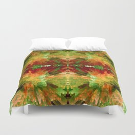 Reflections by four Duvet Cover