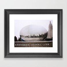 Snowy Bean Framed Art Print