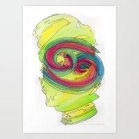 Cancer Flow Art Print