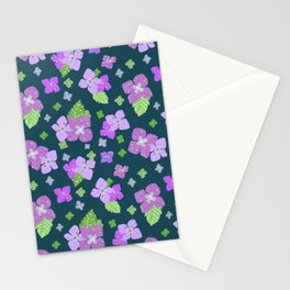 Hydrangea Close-up - Purple 2 Stationery Cards