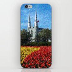 Cathedral & Tulips iPhone & iPod Skin