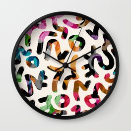Pattern Number 29 Wall Clock