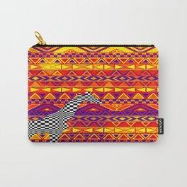 Checkered Giraffe Carry-All Pouch