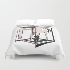lady at the mirror Duvet Cover