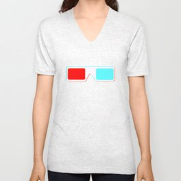3-D Glasses Unisex V-Neck