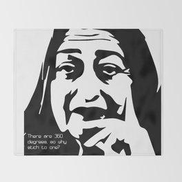 Zaha Hadid Quote Throw Blanket