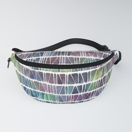 Watercolor Pattern Play - Triangle Meets Rectangle - Blue Fanny Pack