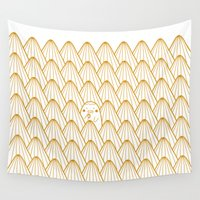 donut Wall Tapestries featuring Donut by Jarvis Glasses