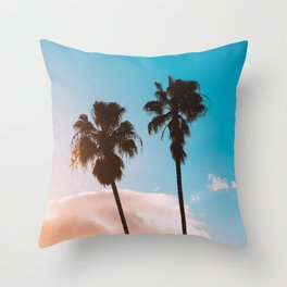 SILHOETTE OF PALM TREE Throw Pillow