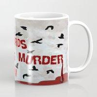dramatical murder Mugs featuring MURDER  -  021 by Lazy Bones Studios