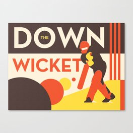 Down The Wicket Canvas Print
