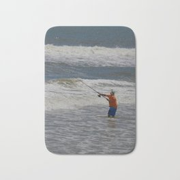 Fisherman and the Sea Bath Mat