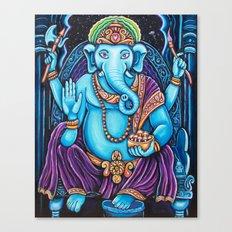 Blue Ganesha Canvas Print