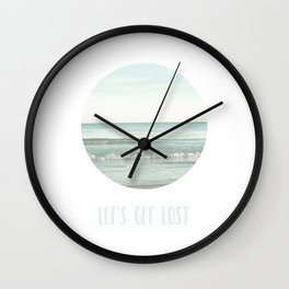 Let's get lost in the sea Wall Clock