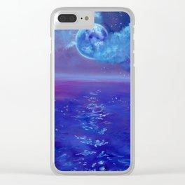 Moon Over Hawaii Clear iPhone Case