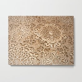 Alhambra Mosaic Metal Print