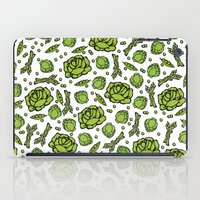vegetables iPad Cases featuring Green Vegetables by Alisa Galitsyna
